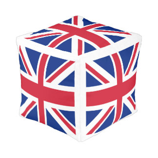 United Kingdom UK Union Jack Flag Pouf