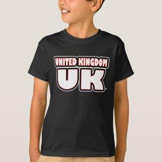 United Kingdom UK White Worded T-Shirt