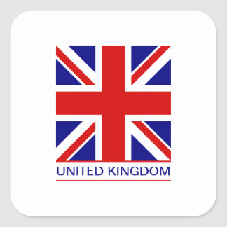 United Kingdom - Union Jack Flag Square Sticker