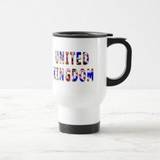 United Kingdom Words With Flag Texture Travel Mug