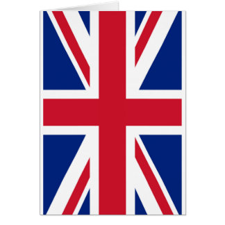 United Kingdon Flag The MUSEUM Zazzle Greeting Card