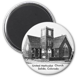 United Methodist Church 2 Inch Round Magnet