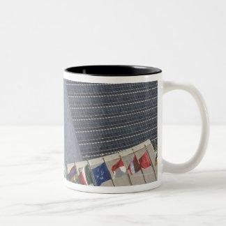 United Nations building Two-Tone Coffee Mug