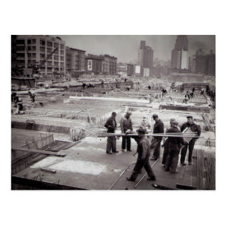 United Nations Construction Site East Side NYC Postcard