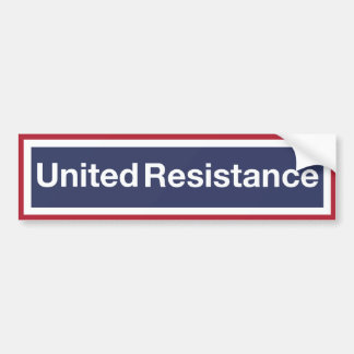 United Resistance Bumper Sticker