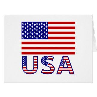 United Sates Flag and USA Card