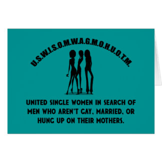 United Single Women - Singles Funny Shirt Cards