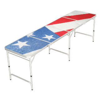 United State Flag Regulation Size Beer Pong Table