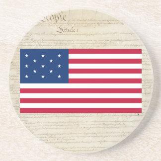 united States 13 Star Flag Coaster