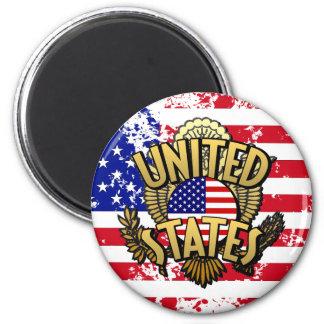 United States 2 Inch Round Magnet