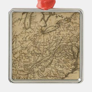 United States 36 Silver-Colored Square Ornament