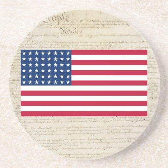 United States 48 Star Flag Coaster