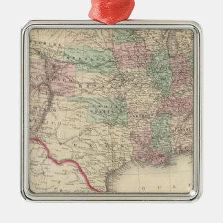 United States 4 Silver-Colored Square Ornament