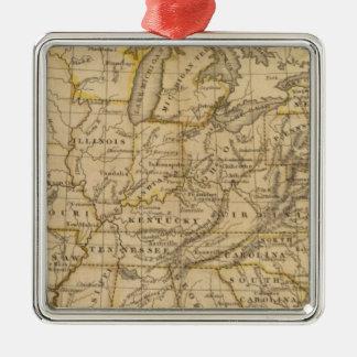 United States 5 Silver-Colored Square Ornament