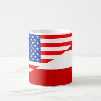 united states america austria half flag usa countr coffee mug