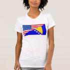 united states america bosnia herzegovina half flag T-Shirt
