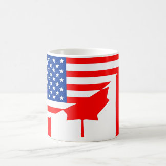 united states america canada half flag usa country coffee mug