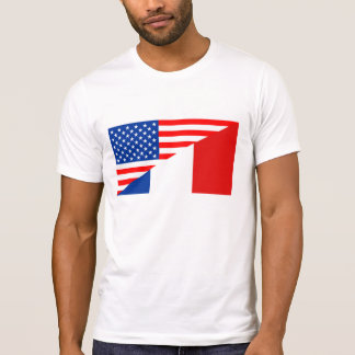 united states america france half flag usa country T-Shirt