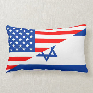 united states america israel half flag usa country lumbar pillow