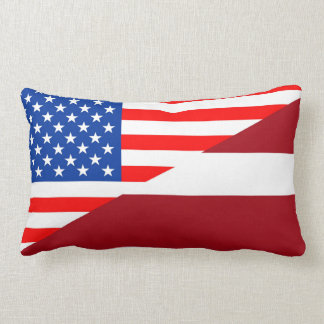 united states america latvia half flag usa country lumbar pillow