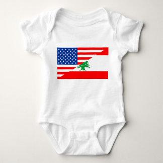 united states america lebanon half flag usa countr baby bodysuit