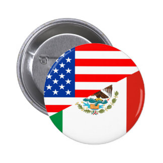 united states america mexico half flag usa country 2 inch round button