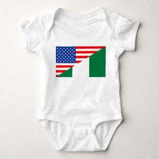 united states america nigeria half flag usa countr baby bodysuit