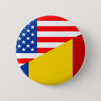 united states america romania half flag usa countr 2 inch round button