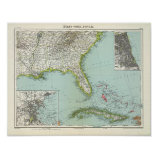 United States and Bahamas Poster