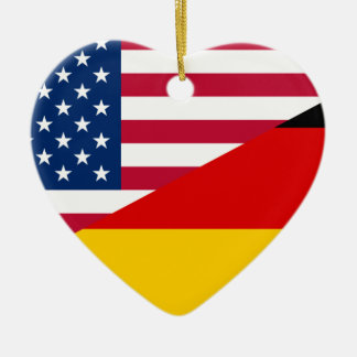 United States And Germany, hybrids flag Ceramic Ornament
