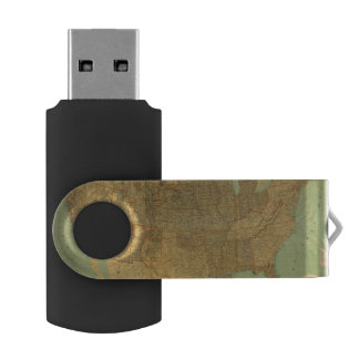 United States and Territories Swivel USB 2.0 Flash Drive