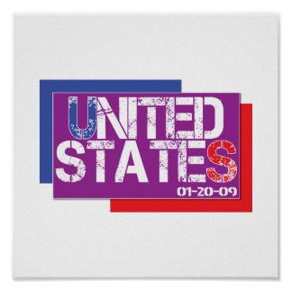 United States Are Purple Poster