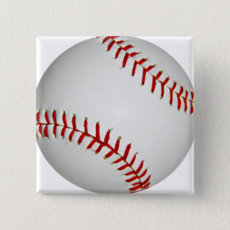 United States Baseball With Large Red Stitching 2 Inch Square Button
