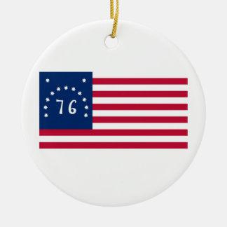 United States Bennington Flag Spirit of 76 Ceramic Ornament