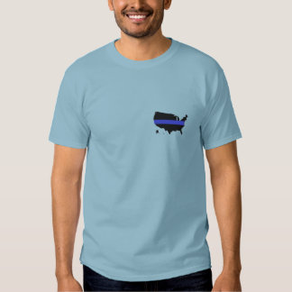 United States Blue Line T Shirt