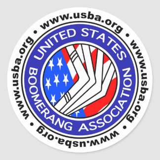 United States Boomerang Association small sticker