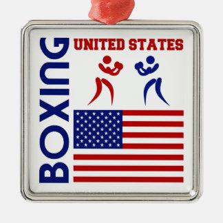 United States Boxin Metal Ornament