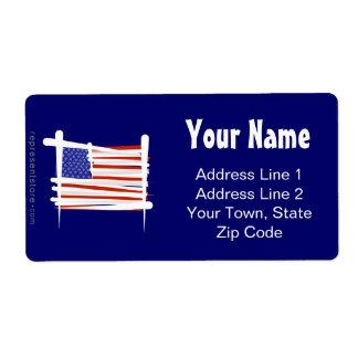 United States Brush Flag Shipping Label
