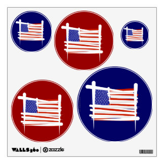 United States Brush Flag Wall Sticker