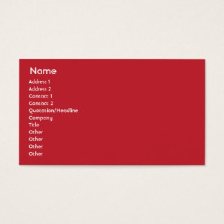 United States - Business Business Card