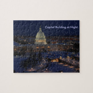 United States Capitol Building at Night Puzzles