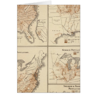 United States Census maps, 1870 Card