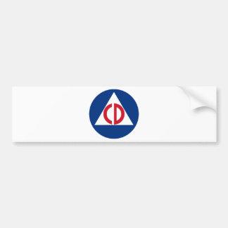 United States Civil Defense Logo Vintage Symbol Bumper Sticker