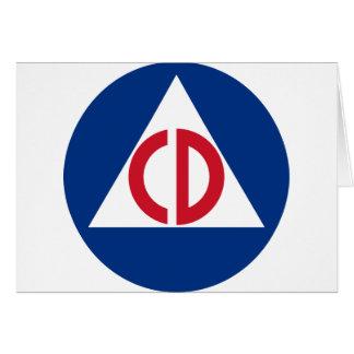 United States Civil Defense Logo Vintage Symbol Card