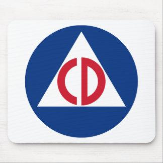 United States Civil Defense Logo Vintage Symbol Mouse Pad