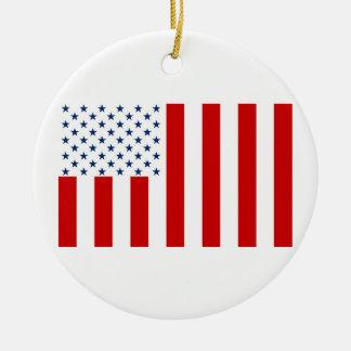 United States Civil Flag Sons of Liberty Variation Round Ceramic Ornament