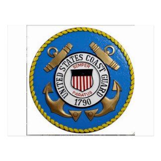 UNITED STATES COAST GUARD INSIGNIA POSTCARD