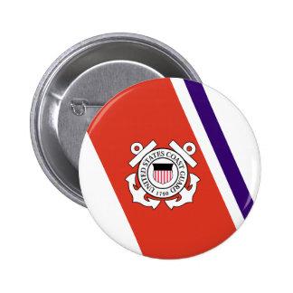 United States Coast Guard Racing Stripe - Left 2 Inch Round Button