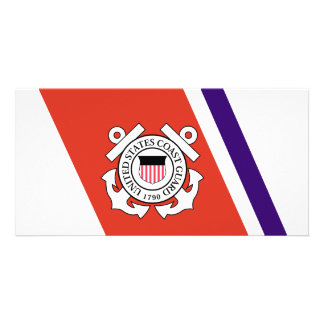 United States Coast Guard Racing Stripe - Left Picture Card