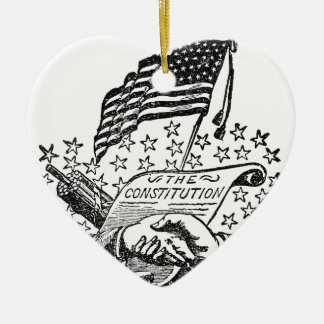 United States Constitution Ceramic Ornament